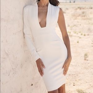House of cb white dress
